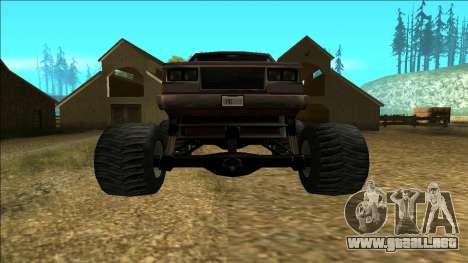 New Yosemite v2 Monster para la visión correcta GTA San Andreas