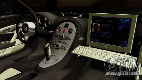 Bugatti Veyron 16.4 2013 Dubai Police para la visión correcta GTA San Andreas