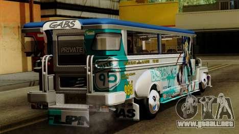 Auto Pormado - Gabshop Custom Jeepney para GTA San Andreas left