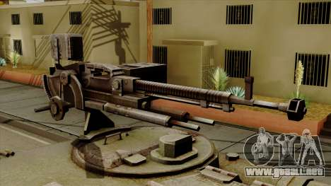 SU-101 122mm from World of Tanks para GTA San Andreas vista hacia atrás