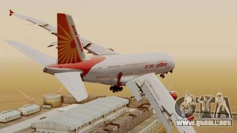 Airbus A380-861 Air India para GTA San Andreas left