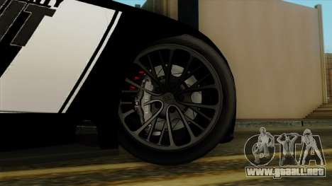 Bugatti Veyron 16.4 2013 Dubai Police para GTA San Andreas vista posterior izquierda