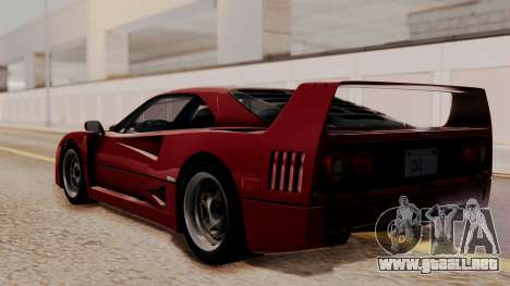 Ferrari F40 1987 without Up Lights HQLM para GTA San Andreas left