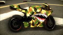 Bati Motorcycle Camo Shark Mouth Edition para GTA San Andreas