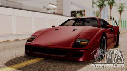 Ferrari F40 1987 without Up Lights HQLM para GTA San Andreas