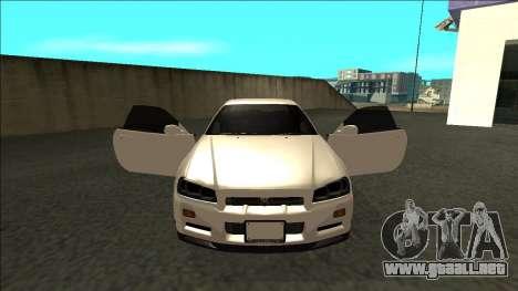 Nissan Skyline R34 Drift JDM para visión interna GTA San Andreas