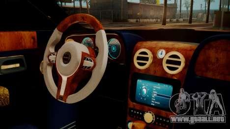 Rolls-Royce Ghost Mansory v2 para la visión correcta GTA San Andreas