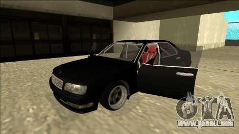 Nissan Cedric Drift para GTA San Andreas vista hacia atrás