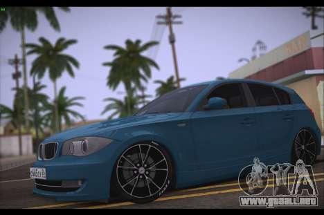 BMW 118i para GTA San Andreas left
