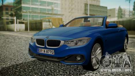 BMW M4 F32 Convertible 2014 para GTA San Andreas