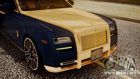 Rolls-Royce Ghost Mansory v2 para visión interna GTA San Andreas