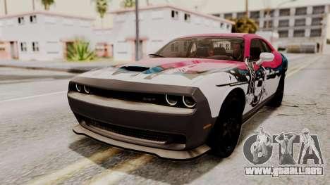 Dodge Challenger SRT Hellcat 2015 IVF para GTA San Andreas interior
