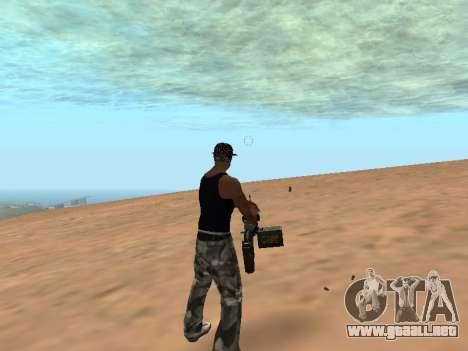 M249 para GTA San Andreas tercera pantalla
