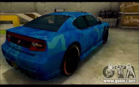 Bravado Buffalo Blue Star para GTA San Andreas vista posterior izquierda
