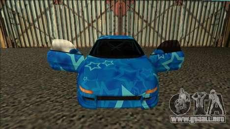 Toyota MR2 Drift Blue Star para visión interna GTA San Andreas