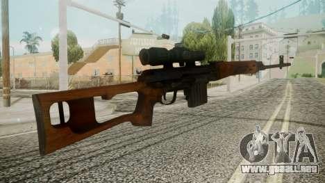 SVD Battlefield 3 para GTA San Andreas segunda pantalla