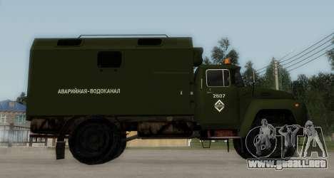 ZIL-130 de Agua de Emergencia para GTA San Andreas left