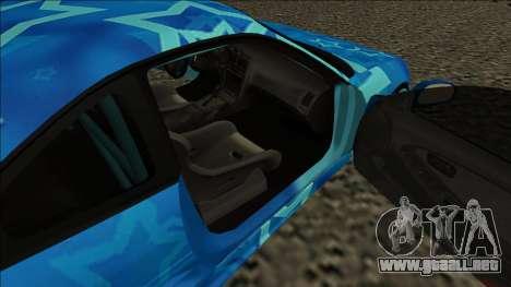 Toyota MR2 Drift Blue Star para GTA San Andreas vista posterior izquierda