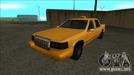 Stretch Sedan Taxi para GTA San Andreas vista posterior izquierda