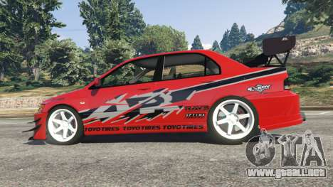 GTA 5 Mitsubishi Lancer Evolution IX FNF vista lateral izquierda