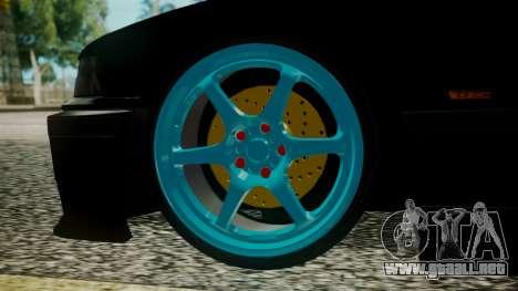 BMW M3 E36 Happy Drift Friends para GTA San Andreas vista posterior izquierda