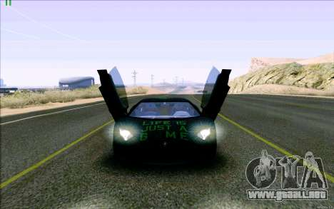 Lamborghini Aventador LP-700 Razer Gaming para visión interna GTA San Andreas