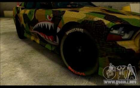 Bravado Buffalo Camo Shark Mouth para la visión correcta GTA San Andreas