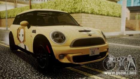 Mini Cooper Clubman 2011 K-ON Ritsu Itasha para GTA San Andreas