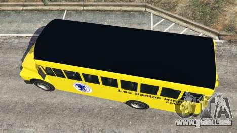 GTA 5 Clásico autobús de la escuela vista trasera