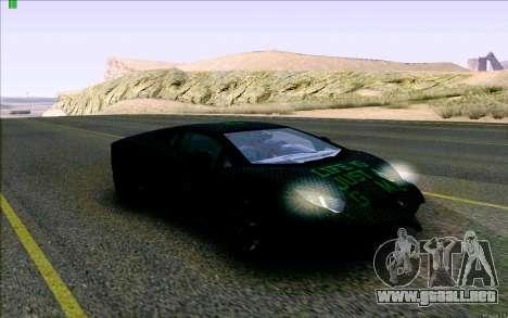Lamborghini Aventador LP-700 Razer Gaming para GTA San Andreas vista hacia atrás