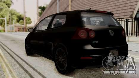 Volkswagen Golf R32 NFSMW05 Sonny PJ para GTA San Andreas left