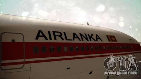 Lockheed L-1011 Air Lanka para GTA San Andreas vista hacia atrás