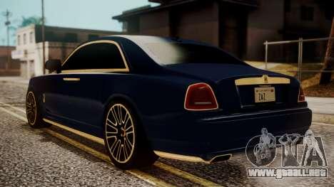 Rolls-Royce Ghost Mansory v2 para GTA San Andreas left
