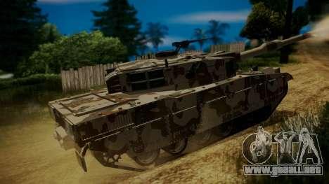 GTA 5 Rhino Tank para GTA San Andreas vista posterior izquierda