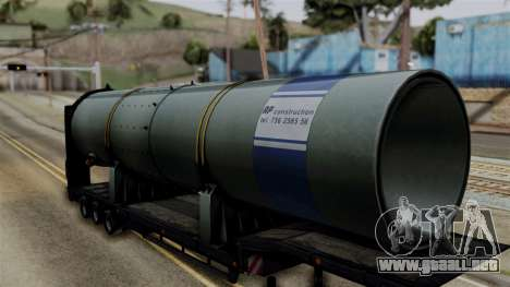 Overweight Trailer Black para GTA San Andreas vista posterior izquierda