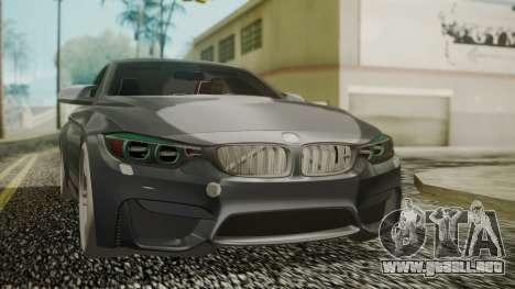 BMW M4 Coupe 2015 Carbon para GTA San Andreas