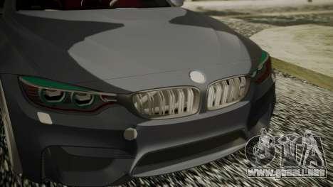 BMW M4 Coupe 2015 Carbon para la visión correcta GTA San Andreas