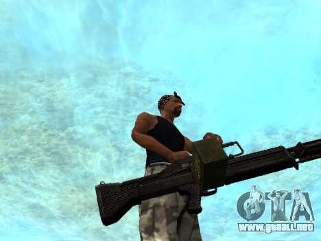 M249 para GTA San Andreas sucesivamente de pantalla