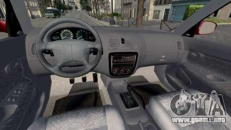 Daewoo Nubira I Hatchback CDX 1997 para GTA 4 vista hacia atrás