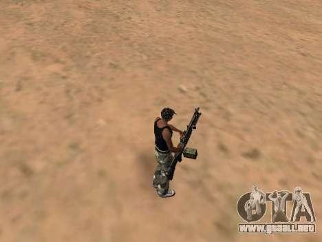 M249 para GTA San Andreas segunda pantalla