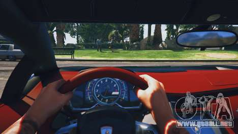 GTA 5 Lamborghini Aventador Police vista trasera