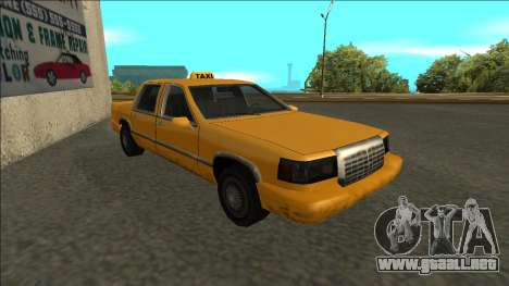 Stretch Sedan Taxi para GTA San Andreas left