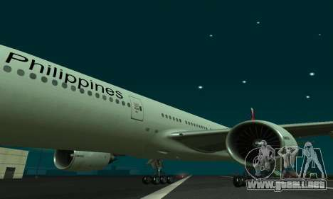 Boeing 777-200LR Philippine Airlines para GTA San Andreas left