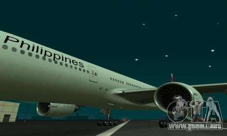 Boeing 777-200LR Philippine Airlines para GTA San Andreas left