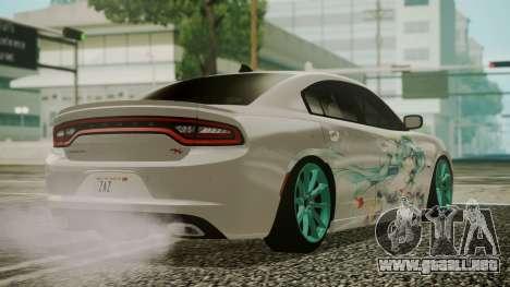 Dodge Charger RT 2015 Hatsune Miku para GTA San Andreas left