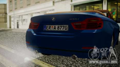 BMW M4 F32 Convertible 2014 para vista lateral GTA San Andreas