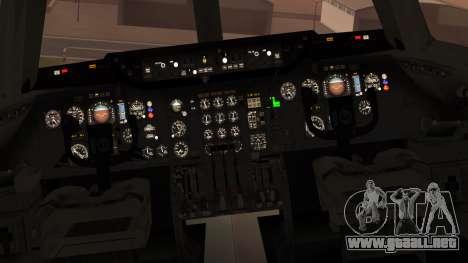 DC-10-10 National Airlines para GTA San Andreas vista hacia atrás