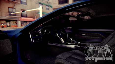 BMW 4 Series Coupe M Sport para la vista superior GTA San Andreas