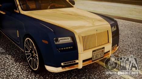 Rolls-Royce Ghost Mansory v2 para GTA San Andreas vista hacia atrás
