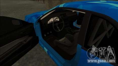 Nissan Skyline R34 Drift Blue Star para la visión correcta GTA San Andreas
